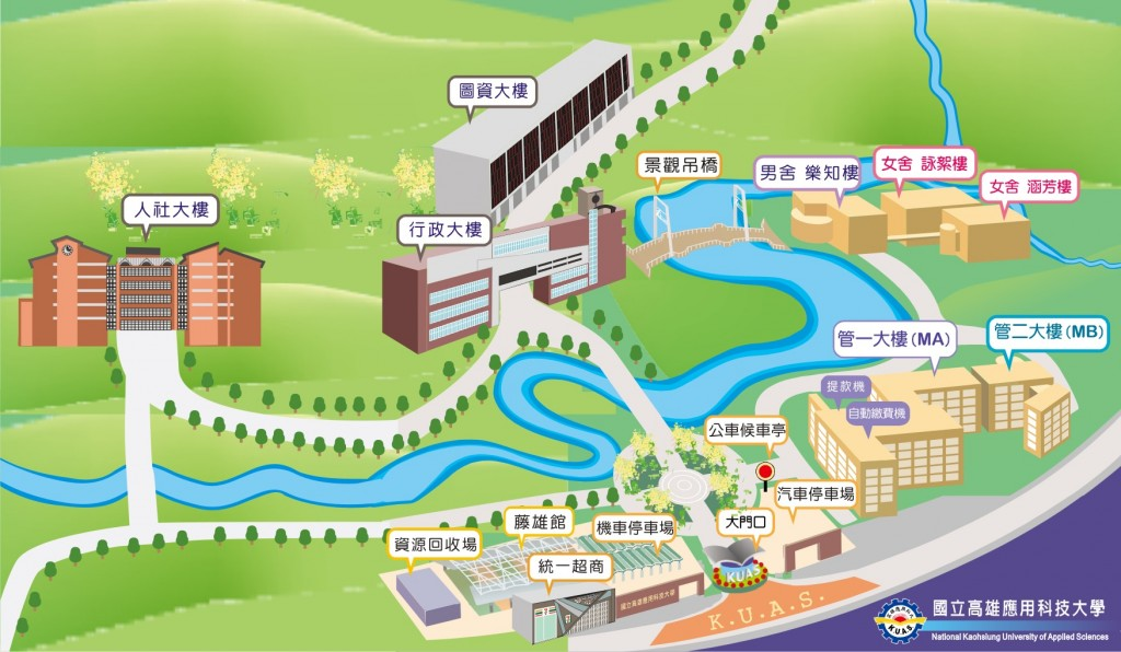 燕巢校區平面圖