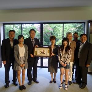104-1校長訪視觀光系日本強羅花壇實習同學